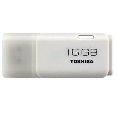 Toshiba 16GB TransMemory U202 USB 2.0 Flash Drive - White