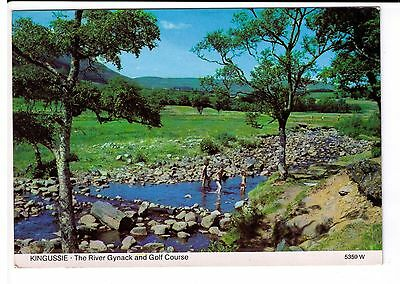 Postcard: The River Gynack and Golf Course, Kingussie, Scotland