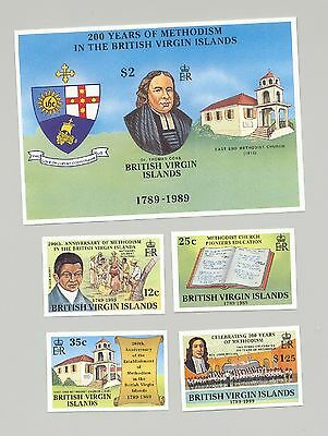 Virgin Islands #646-650 Methodist Church, Coat of Arms 4v & 1v S/S Imperf Proofs