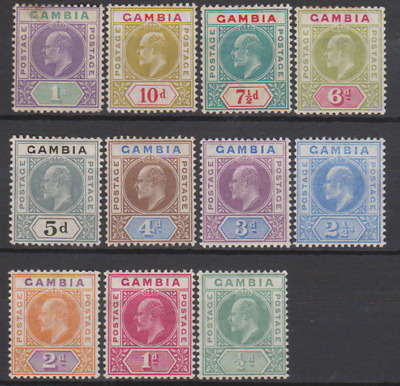 Gambia 1904/06 Mint Mounted Set to 1/- Cat £215