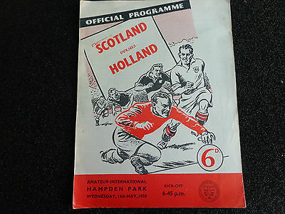 SCOTLAND v HOLLAND  Amateur international  1958