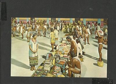 Vintage Colour Postcard Native Market Place at Tlatelolco Mexico unposted