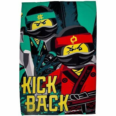 EXTRA LARGE Lego Ninjago Movie Super Soft Fleece Blanket Kids Boys Bed Throw