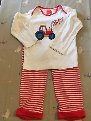 Joules Kids Tractor  Pyjamas Age 2-3 Years Excellent Condition
