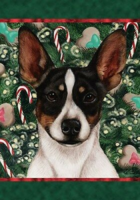 Large Indoor/Outdoor Holiday Flag - Tri Rat Terrier 14324