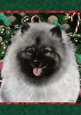 Large Indoor/Outdoor Holiday Flag - Keeshond 14017