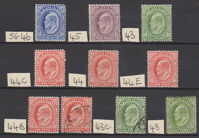 Falkland Islands 1904 Collection Mint Mounted & Used Cat £155
