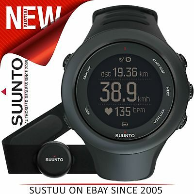 Suunto Ambit3 Peak HR GPS Black Heart Rate Monitor Compass Running Fitness Watch