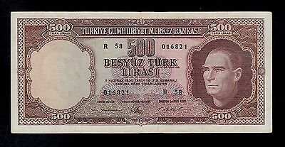 Turkey   10  Lira L. 1930 ( 1962 ) R58  Pick # 178  Vf.