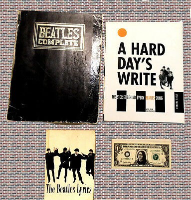 3 Beatles Complete Vintage Songbook, Reference & Music Publications
