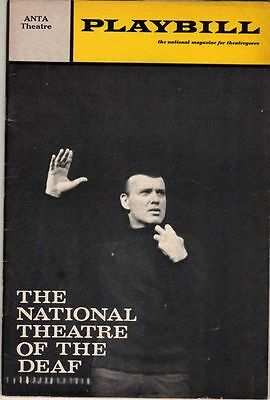 National Theatre of the Deaf Playbill 1970 Broadway