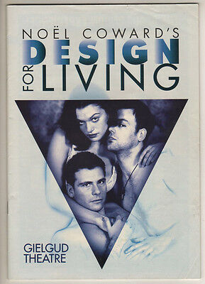 "Rachel Weisz & Rupert Graves ""Design for Living""  Playbill  London 1995"