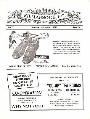 KILMARNOCK v Hamilton Accies / Edinburgh City, Aug/Sept 1948, B & C Division