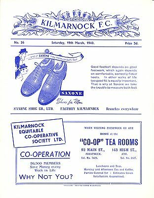 Kilmarnock Reserves v Airdrie Reserves, 19th March 1949, C Division Supp. Cup.