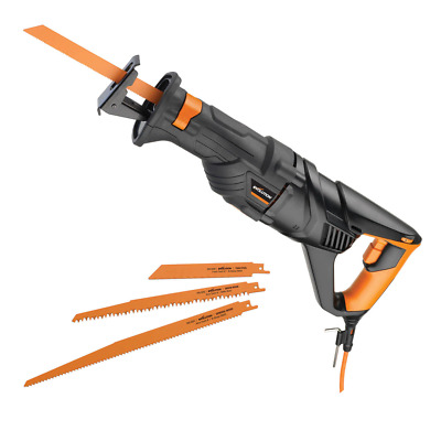 Evolution RAGE8 Reciprocating Saw 1050W with 4 Blades 240V