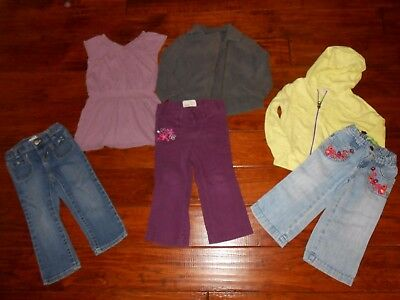 Girls 6pc Mix & Match Old Navy Shirt & Pants Outfit Lot Size 2T