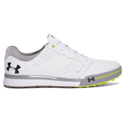 Under Armour 2017 Tempo Tour Hybrid Mens Golf Shoes - White/Yellow