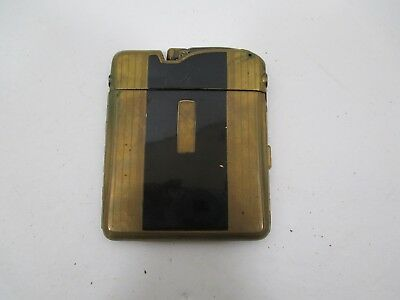 Vintage Ronson Ten-A-Case Untested Lighter and Brass Cigarette Case VS28