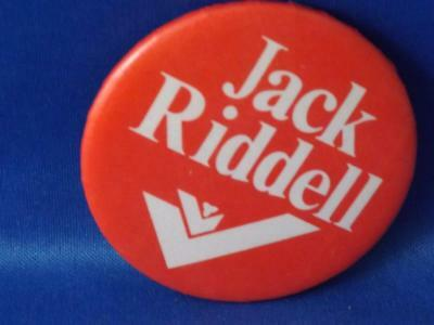 Jack Riddell Liberal Party Politician Canada Election Campaign Collect Button