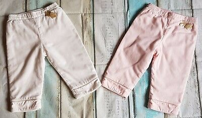 Dior Girls Designer Clothes Bundle 2 Pairs of Pants/Trousers 18 Months Vgc