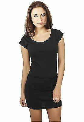 Urban Classics TB923 Ladies Slub Jersey Dress Streetwear Vestito Gonna Donna