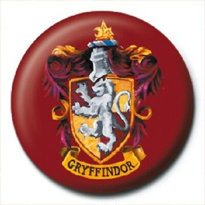 HARRY POTTER gryffindor crest - BUTTON BADGE official licensed merchandise HP6