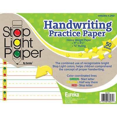 Eureka Stop Light 50Ct Practice Paper