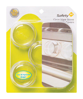 Safety 1st  Clear  Plastic  Stove Knob Covers  5 pk