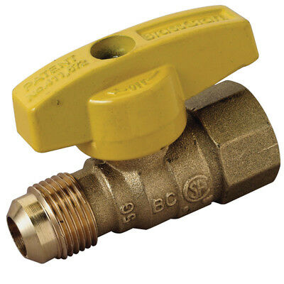 Brasscraft  Magne Flo  1/2 in. Dia. x 1/2 in. Dia. Brass  Gas Valve  5 psi