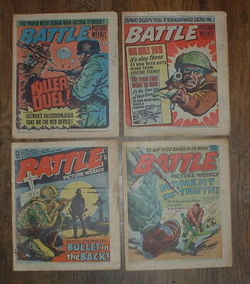 4 x 1976 BATTLE COMICS PICTURE WEEKLY vgc