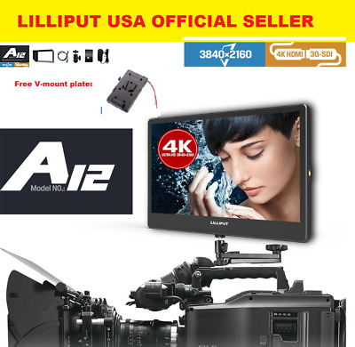 "LILLIPUT A12 12.5""  4K monitor 3840 x 2160 with HDMI, Displayport ,SDI + V-mount"