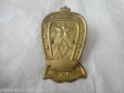 """Antique Horseshoe Brass Letter Clip, Marked """"t"""" , N.y , 3 1/4"""" X 2"""""""