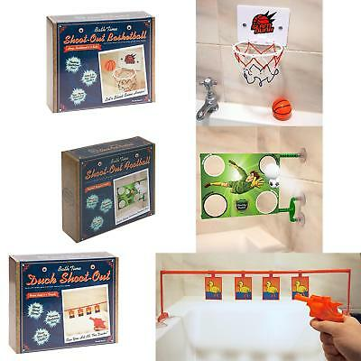 Gifts for Him - Mini Bath Time Game - Basketball / Football / Duck Shoot-Out