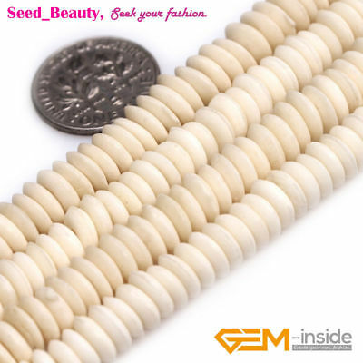 Rondelle Donuts & Heishi Spacer Genuine Bone Beads for Jewelry Making Wholesale