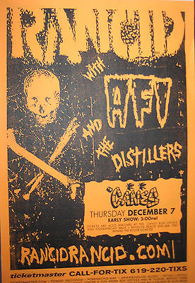 RANCID CONCERT POSTER + HANDBILL with AFI & THE DISTILLERS  CANES San Diego