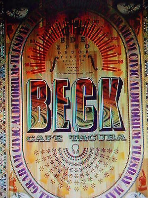 BECK POSTER BGP238 Rex Ray CAFE TUCUBA Bill Graham Civic Aud ORIGINAL Over Sized