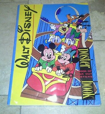 Disney Book of 17 tear out posters 1988