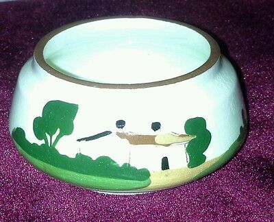 Torquay Watcombe pottery motto ware sugar bowl