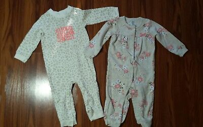 Baby Girls Carters Rompers Pants size 12 months.