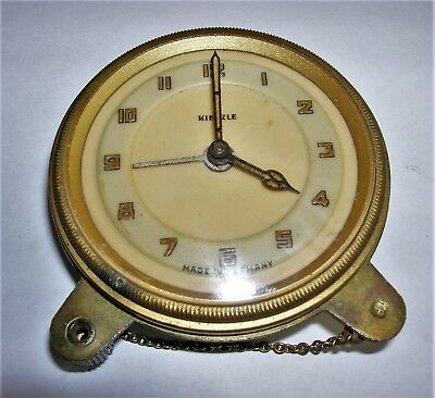 Antique Vintage Kienzle Key Wind Clock Germany - Parts / Repair