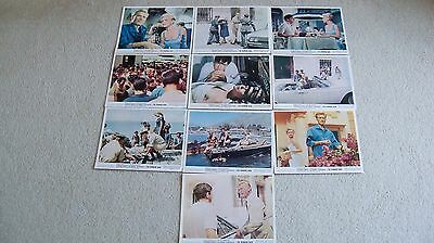 Lot 10 The Running Man lobby cards 1963 Lee Remick Laurence Harvey
