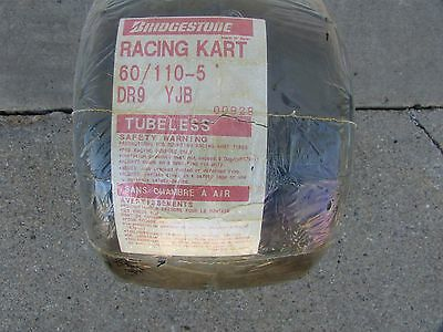 Bridgestone YJB 600x 5 slick go kart tires  new in wrapper as shown