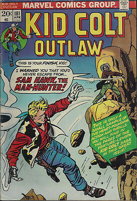 KID COLT OUTLAW #181  Apr 1974
