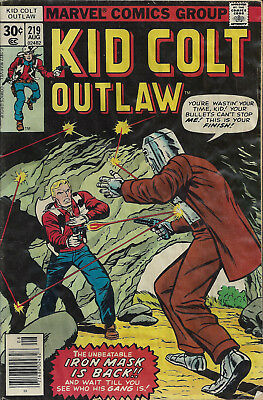 KID COLT OUTLAW #219  Aug 1977