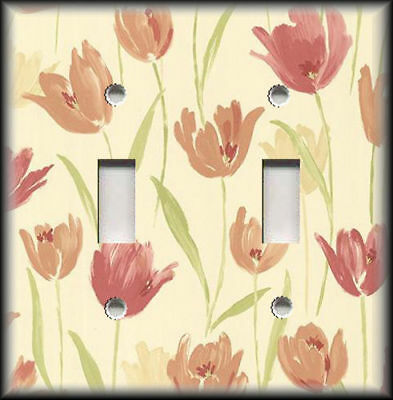 Light Switch Plate /& Outlet Covers VINTAGE FRUIT CRATE ~ CITRUS TULIP FLOWERS
