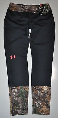 Under Armour Women's Med Coldgear Tevo Infrared Fitted Leggins Hunt Camo Nwt