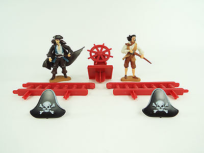 Disney Pirates of the Caribbean Cake Topper Figures & Rings Lot
