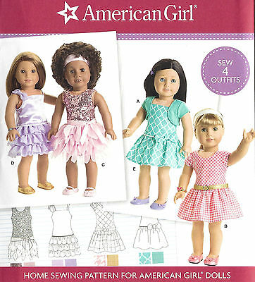 """18"""" AMERICAN GIRL DOLL Modern Dresses Simplicity 8360 UNCUT Sewing Pattern NEW"""