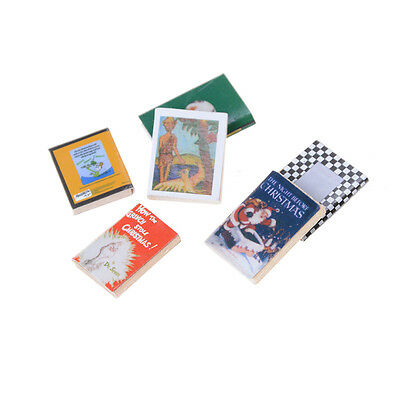 6pcs/set 1:12 Dollhouse Miniature Colorful Wooden Books Home Decoration