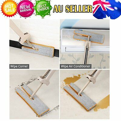 New Arrivals Self-Wringing Double Sided Flat Mop Telescopic Comfortable Han OZ